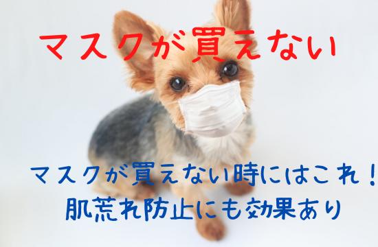 マスクが買えないの解決法!肌荒れ対策にも効果ありのおすすめアイテムは?